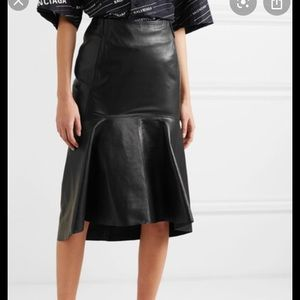 NEW NWT Authentic Balenciaga leather skirt 40 6